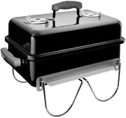 Portable Charcoal Bbq Grill Barbecue Black Weber Tailgating Camping Travel Bowl
