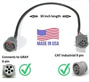 7x-1686 6 Pin To Cat 9 Pin Adapter Cable Converter J1708/j1587 307x1686