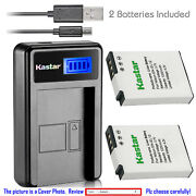 Kastar Battery Lcd Charger For Nikon En-el12 And Nikon Coolpix S9050 Coolpix S9100