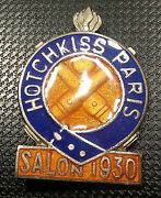 Hotchkiss Paris Enamelled Brooch 0 7/8x1 3/16in Numbered -246- Old + Original