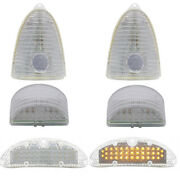 1955 Chevrolet Clear Led Light Package Taillight Turn Signal 55 Chevy Bel Aire