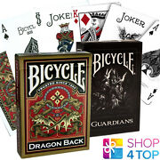 2 Decks Bicycle 1 Guardians And 1 Gold Dragon Playing Cards Made In Usa New