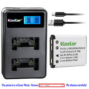 Kastar Battery Lcd Dual Charger For Casio Np-80 Bc-80l And Casio Exilim Ex-n20