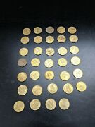 Vintage Lot Of 34 Pennsylvania And New Jersey Bridge Tokens