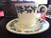 Formalities By Baum Bros. Gold-rimmed Christmas Andldquohollyandrdquo China + Spode Plates