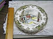 Friendly Village Johnson Brothers - 7 Pcs - Bread And Butter Plates - Sugar Maples