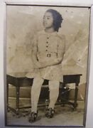 Vintage1900's Colored Girl Original Matted Photo - Salvaged Print In Nice Matt