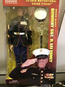 Sideshow Collectibles 12 Inch Talking Gunnery Sgt R. Lee Ermey Figures