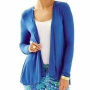 Lily Lilly Pulitzer White Navy Blue Cardigan Damage 3 Pieces Lot T New Usa Made