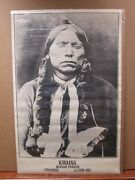 Vint Blk And White Indian Poster Kwaina Quanah Parker Comanche 1839-1911 Ing1339
