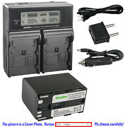 Kastar Battery Lcd Dual Fast Charger For Canon Bp-970g And Canon Gl1 Gl-1 Gl2 Gl-2