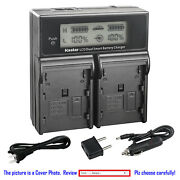 Kastar Battery Lcd Dual Fast Charger For Canon Bp-911 And Canon G45hi Gl1 Gl2 Mv1