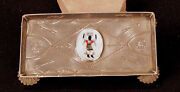 Navajo/zuni Sterling Silver Ash Tray With Ghost Dancer 6 X 3
