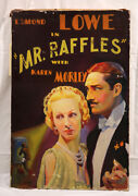 Robert Freiman American Vintage Art Deco Painting Mr Raffles Movie Sign 1935