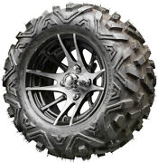 12 Rhox Rx101 Machined Golf Cart Wheels And All-terrain Tires Combo Set Of 4