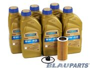 Motor Oil Change Kit - Compatible With 2014-17 Vw Jetta Vi - 1.8t - 5w40
