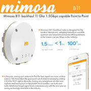 Mimosa B11 11 Ghz 1.5gbps Capable Ptp Backhaul Radiopoe4x44 Mimo 100-00036-hw