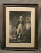 George Washington On Horse American Engraving From Franklin Print Company