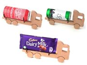 Fathers Day Lorry / Tanker Truck Chocolate / Beer Can / Mixer Tin Holder Gift