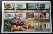 Germany Units 25th Anniv 2015 Car Flag Map Fdc Different Cancellation Rare