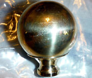 1 Brass Ball 2 Finial Fits Antique Iron And Brass Beds 3/8 Thread Hard To Find