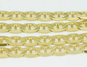 16-24 7.0mm 10k Yellow Flat Anchor Link Chain New Solid Italian Necklace2519