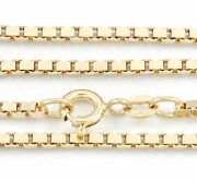 16-24 2.20mm 18k Yellow Gold Box Chain New Solid Italian Necklace 2221