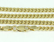 8-24 3.5mm 14k Yellow Gold Domed Link Chain New Solid Italian Necklace 2434