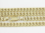 8-24 5.4mm 10k Yellow Flat Beveled Link Chainnew Solid Italian Necklace2393