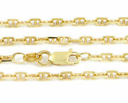 16-24 2.3mm 18k Yellow Anchor Link Chain New Solid Italian Necklace 2298