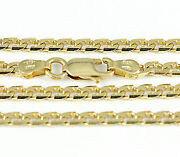 16-24 2.9mm 18k Yellow Flat Beveled Link Chainnew Solid Italian Necklace2411