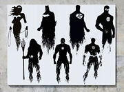 Justice League Superheroes Dc Comic For All 7 Decal Wall Art Sticker Picture
