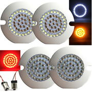 Eagle Lights 3 Harley Led Turn Signal Kit Front W/ White Halo + Red Rear 1156