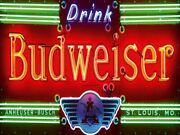 Budweiser Beer Neon Lights Advertising Vintage Retro Metal Sign Wall Decor A4