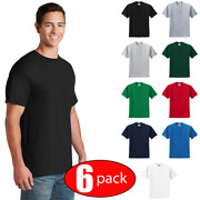 6 Pack Jerzees 29m Menand039s Short Sleeve T-shirt Gym Casual Blank Plain Solid Tee