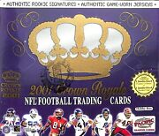 2001 Pacific Crown Royale Football Sealed Hobby Box