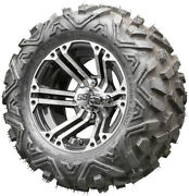 12 Rhox Rx333 Machined Golf Cart Wheels And All Terrain Tires Combo Set Of 4