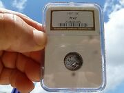 1961 Roosevelt Js Proof Silver Dime Graded By Ngc Pf 67 Light Tone A Beauty