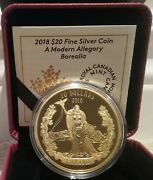 2018 Miss Canada Borealia Modern Allegory 20 1oz Silver Gold-plated Proof Coin