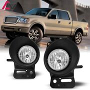 For Ford F-150 06-08 Clear Lens Pair Bumper Fog Light Lamp Replacement