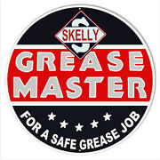 Skelly Grease Master Reproduction Garage Metal Sign 24 Round Rvg706-24