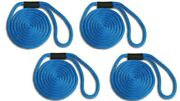 Solid Braid Nylon Dock Line 5/8 X 10and039 4-pack Non Fading / Usa - Royal Blue