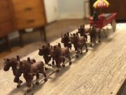Shultz Beer And Ale Cast Iron Wagon And 4 Sets Of Horses