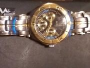 2005 Donald Trump Watch Rare Historical Gold/silver Stainless Blue Face Tr/1185