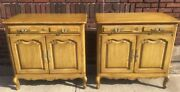 Stunning Vintage Pair Country French Night Stands Bachelor Chests Commodes