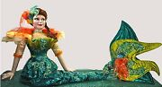 Katherine's Collection Retired Rare 98 Life Size Mermaid Doll Display