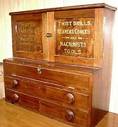 Antique Cleveland Twist Drill Cabinet - Must See
