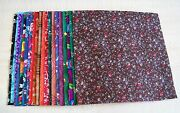 Af0543 60 5 Pre-cut Quilt Fabric Charm Squares Dark And Medium Prints And Solids