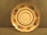 Collection Of 7 Theodore Haviland Limoge France Aquitania Fluted Floral Saucers