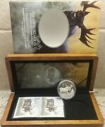 Majestic Moose 5 2004 Limited Edition Stamp And Pure Silver Proof Coin Set Canada